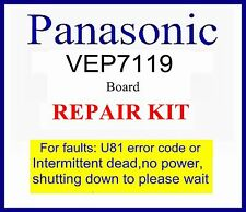 Panasonic VEP71119 board Repair kit, For U81 error code, Please wait Dmr-ez48v