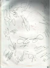 2001 New Jersey Devils Autographed Page by 20 & Kevin H. White Boston Mayor D.12