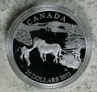 2011 Canada $20 Winter Scene Proof Sterling Silver Coin W/ Box & COA 27.78Gg
