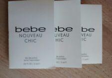 Bebe Nouveau Chic EDP Eau de Parfum Trial Spray Vials .06 oz x 3 Bottles Free Sh