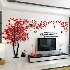 Large Family Cat Tree Wall Decals 3D Acrylic Wall Stickers Mural Home Decor HOT