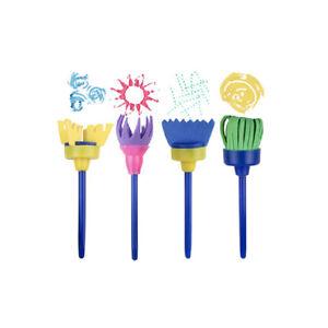 12X Paint Brushes Sponge Painting Brush Tool Set for Kids Children Toddler Toys-