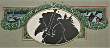 Unusual Black SANTA CLAUS Embossed Arts & Crafts Style CHRISTMAS Postcard