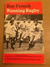 Running Rugby by Ray French (1980 paperback) Rugby League, Rugby Union St Helens