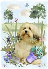"Lowchen Dog A6 (4"" x 6"") Blank Card Design By Starprint"