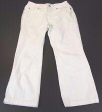 *GAP* SIZE 4 WOMEN'S WHITE 100% COTTON BOOT CUT DENIM CAPRI PANTS