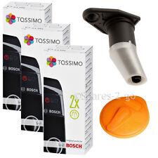 BOSCH TASSIMO Genuine Orange Service T Disc Coffee Machine Spout & Descaler x 3