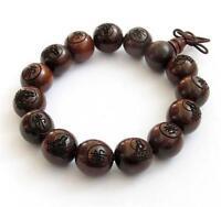 natural green wingceltis wood beads Carved Buddha 10-20mm hand string bracelets