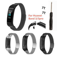 Für Huawei Band 3/3 Pro Smart Watch Magnetic Metal Ersatz Uhrenarmband Strap GE
