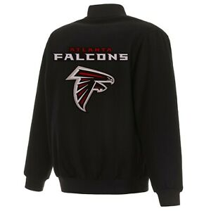 NFL Atlanta Falcons JH Design Wool Reversible Jacket With Embroidered Logos