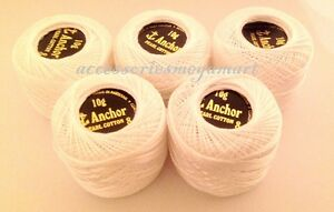 ANCHOR Pearl Cotton crochet embroidery sewing Balls Size 8 (85 Meters each)