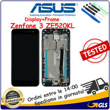 TOUCH SCREEN VETRO LCD DISPLAY + FRAME Asus Zenfone 3 ZE520KL Z017D Z017DA NERO