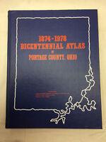 """Vtg 1978 Bicentennial Atlas Portage County Ohio Book 11 3/8"""" X 14 3/8"""" Ravenna"""