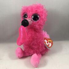 "Ty Beanie Boos 6"" DANITY the 2020 Valentine's Day Flamingo Plush Toy Gift MWMTs"