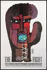 Original 1971 Muhammad Ali vs. Joe Frazier Closed Circuit Boxing Fight Poster