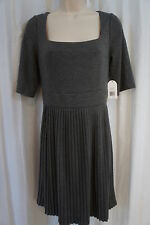Jessica Simpson Dress Sz 12 Charcoal Gray Accordian Bottom Business Casual Party