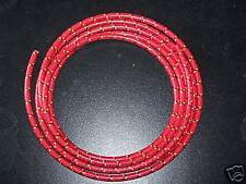 7mm Cloth Sparkplug wire Red w/ Yellow and black 10 ft