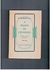 """""""A PROPOS DE L'EVANGILE"""" HOORNAERT (1941)"""