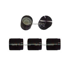 5 pcs Black Knob Aluminum Alloy for Rotary Taper Potentiometer Hole 6mm DIY New