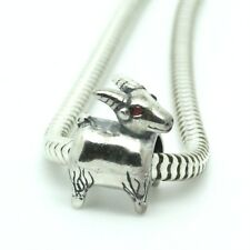 CAPRICORN goat - Zodiac sign -  Solid 925 sterling silver European charm bead