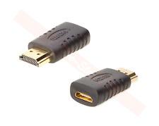 HDMI Male to Mini HDMI Female Adapter PC Laptop Video Monitor HDTV Connector