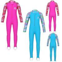 Toddler Kid Girl Long Sleeve Swimsuit Rash Guard Sun Protective Surf Swim Beach