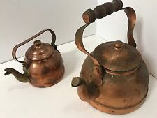 Antique Copper Brass Kettles x 2