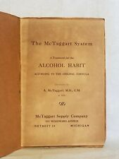 Vintage Booklet The McTaggart System Alcohol Habit Treatment 1896