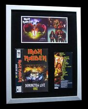 IRON MAIDEN+SIGNED+FRAMED+BEAST+FEAR DARK+LIVE=100% AUTHENTIC+FAST GLOBAL SHIP