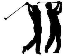 Golfer vinyl Decal / Sticker