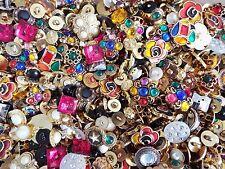 BARGAIN 500g Bag Asstd JEWEL Rhinestone GEMSTONE Kitsch Buttons Crafts Sewing