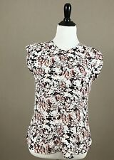 The Limited Women's Blouse Short Sleeve Multi-Color Abstract Semi-Sheer Sz S