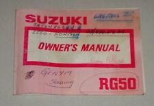 Betriebsanleitung Suzuki Motorrad RG 50 Stand 10/1990