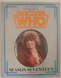 DOCTOR WHO FILES MAGAZINE SEASON SEVENTEEN 17 JOHN PEEL PSI MOVIE PRESS 1986 VF+