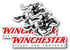 2X WINCHESTER DECAL STICKER 3M USA WINDOW CAR FIREARM GUN RIFLE PISTON HUNTING