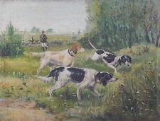 Künstlerische Malereien von 1900-1949 Tier-Motiv als Original der Zeit