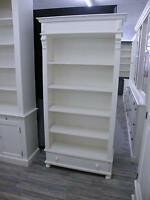 Bücherregal Regal Schrank Bibliothek Landhausstil Landhaus Shabby Chic weiß neu