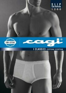 Ribbed men's briefs with CAGI article 1200 opening