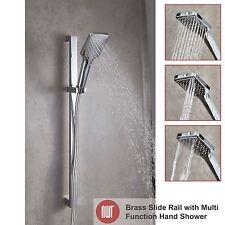 685mm (H) Chrome Bagno Doccia Kit del binario a scorrimento Inc Tubo Flessibile & PORTATILE - 3 funzioni