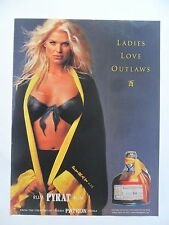 2001 Print Ad Patron Tequila ~ Sexy Victoria Silvstedt Body Art