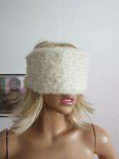 Balaclava Mohair dicke  Augenbinde weiß