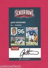 JAYE HOWARD 2012 SENIOR BOWL FLORIDA GATORS ROOKIE CARD KANSAS CITY CHIEFS RC
