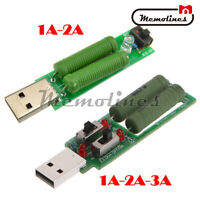 USB Load Resistors 1A 2A 3A Mobile Power Module Voltage Current Tester Switch