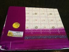 Saree Indian Costume polyester Bollywood Beautiful Sari Ladies Party wear Purple