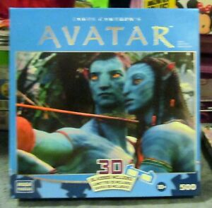 AVATAR 500 PIECE PUZZLE 3D WITH 3D GLASSES BRAND NEW IN SEALED BOX