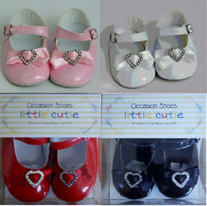 Little Cutie Baby Shoes Pink Red Black Or White Heart