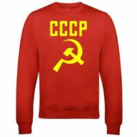 CCCP Hammer and Sickle Sweatshirt Russia Soviet Union Classic Retro