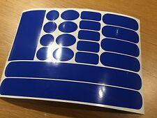 Blue Cornice Patch FORK FORCELLA Cavo RUB Protettore Set Adesivo MOUNTAIN BIKE