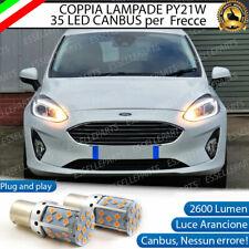 COPPIA LAMPADE PY21W CANBUS 35 LED FORD FIESTA MK7 FRECCE ANTERIORI NO ERROR