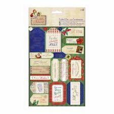 Docraft papermania die-cut sentiments déjoué (2pk) - lettre à santa
